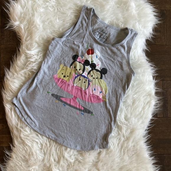 Disney Other - Disney Tsum Tsum Girls Large 10/12 Gray Tank Top
